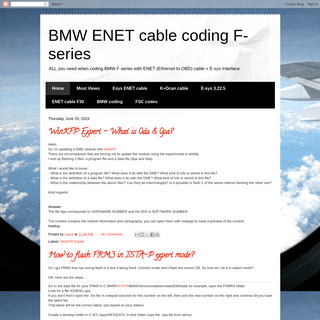 BMW ENET cable coding F-series