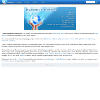 Encyclopedia of the Nations - Information about countries of the world, United Nations, and World Leaders