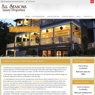 A Better Experience Than Eureka Springs Hotels... - All Seasons Luxury Properties