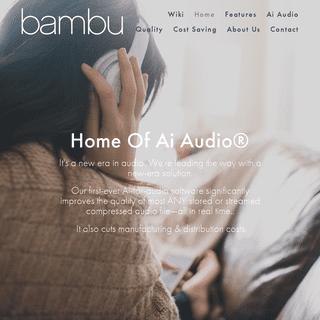 ArchiveBay.com - bambu.tech - Bambu Tech - Adaptive Intelligence Audio