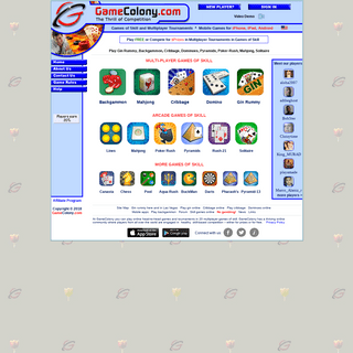 ArchiveBay.com - gamecolony.com - Play games online. Gin rummy, cribbage, dominoes, backgammon, pyramids, solitaire, mahjong, poker solitare, canasta, pool