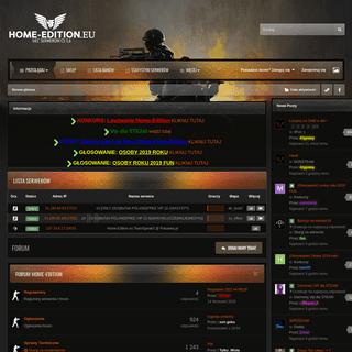 Home-Edition.eu - Forum serwerów BaToN POLAND Server CS GO, 1.6, Counter-Strike FFA, PB, Only DD2