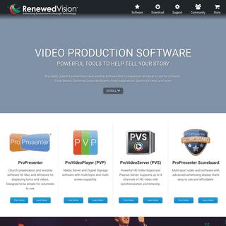 ArchiveBay.com - renewedvision.com - Renewed Vision - Video Production Presentation and Worship Software