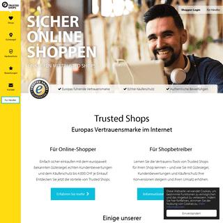 Trusted Shops Gütesiegel mit Käuferschutz für Online-Shops