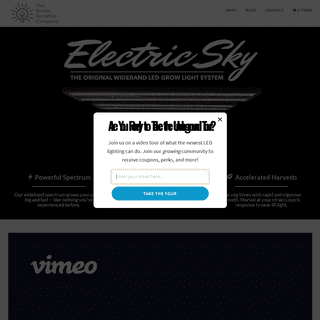 Electric Sky LED Grow Light – The Green Sunshine Company