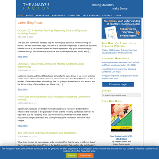 The Analysis Factor — Statistical Consulting, Resources, and Statistics Workshops for Researchers