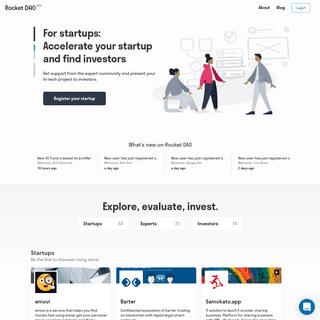 Rocket DAO - uniting startups, investors and experts