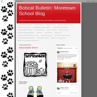 Bobcat Bulletin- Moretown School Blog