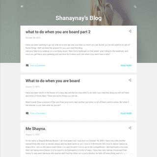 Shanaynay's Blog