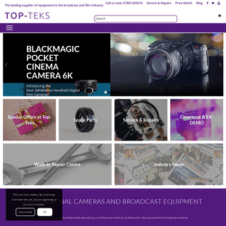Broadcast Equipment - Broadcast Cameras & Equipment London - TopTeks