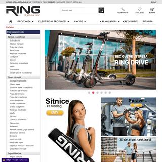 Sportska oprema, fitnes oprema ,prodaja online, garancija. - Ring Sport - fitnes oprema