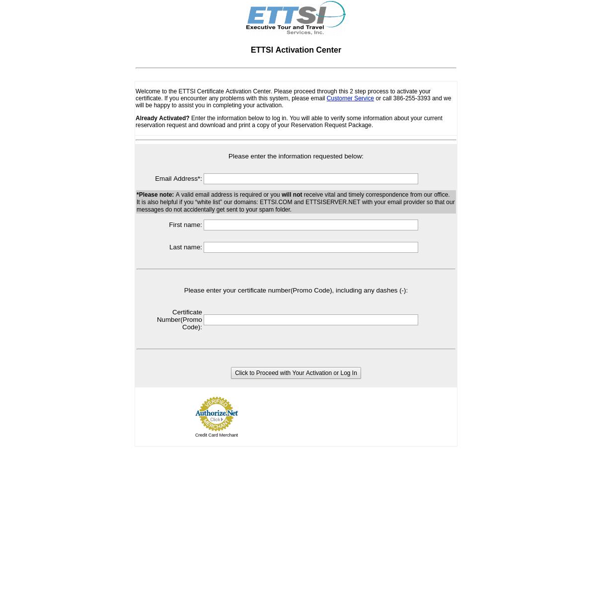 ETTSI Activation Center