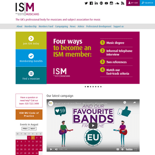 ArchiveBay.com - ism.org - Incorporated Society of Musicians