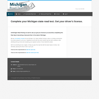 Michigan Road Testing for State Driver's License Test - Michigan Road Testing