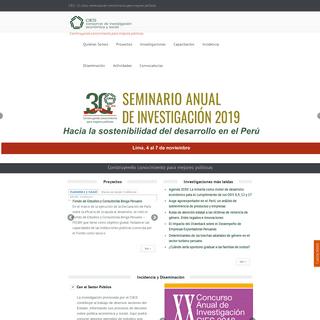 Inicio - Consorcio de Investigación Económica y Social