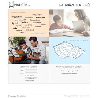 NAUCIM.CZ - databáze lektorů. Doučování, jazyky.