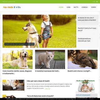 Portale dedicato a cani, gatti, conigli con consigli, guide, video, notizie