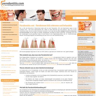 Parodontitis.com - Parodontose früh erkennen und behandeln