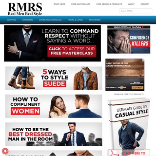 ArchiveBay.com - realmenrealstyle.com - Real Men Real Style - Men's Clothing - Grooming - Communication