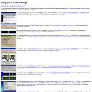 Homepage von Matthias Withopf