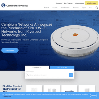 Reliable, Affordable Wi-Fi - Fixed Wireless Backhaul and Access Solutions - Cambium Networks