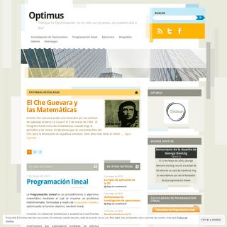 Optimus - -Porque la Optimización no es sólo un proceso, es nuestro día a día-