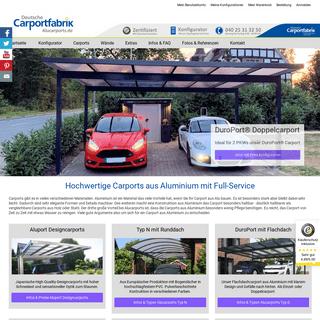 Alucarports - Carports aus Aluminium & Alu - Carport Metall Preise - Design Carport Aluminium - Carport Metall Glas