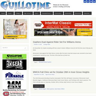 The Guillotine – Website for the Minnesota amateur wrestling community