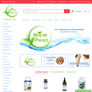 Health Palace - Natural Health Food Store - Naturopathic Supplements