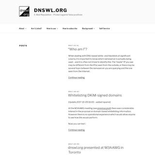 dnswl.org – E-Mail Reputation – Protect against false positives