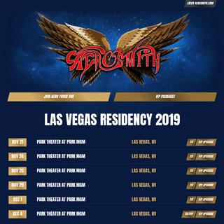Aerosmith Official Website -- Las Vegas Residency 2019