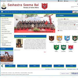 ArchiveBay.com - ssb.nic.in - Sashastra Seema Bal, Ministry Of Home Affairs, Govt. Of India