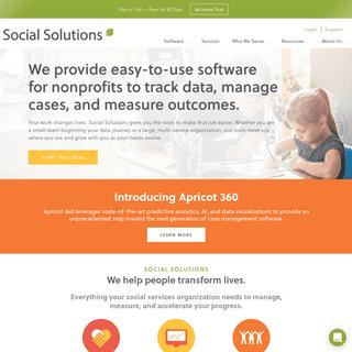 Social Solutions - Software for Nonprofits & Public Sector Agencies