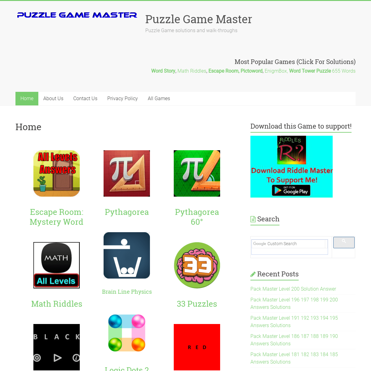 Home » Puzzle Game Master