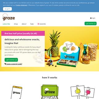 graze - healthier snacks by post
