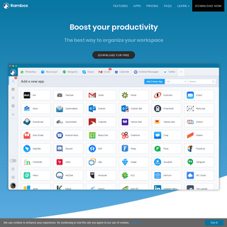 Rambox - Boost your productivity