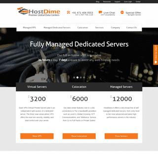 HostDime- Managed Dedicated Servers, Managed Cloud Hosting