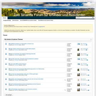Forum - Das Teneriffa-Forum für Urlauber und Residenten