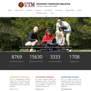 Home - Official Web Portal of Universiti Teknologi Malaysia
