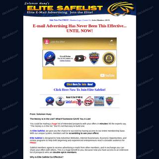 Elite Safelist.com - Free Credit Based E-mail Advertising!