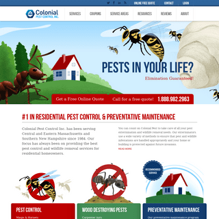 ArchiveBay.com - colonialpest.com - Colonial Pest Control - #1 in Residential Pest Control Services