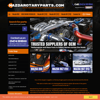 Rotary Rebuild Engines - Mazda Rotary Parts trusted specialist, supplying Rotary owners across the World.