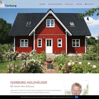 Home - Fjorborg Holzhäuser