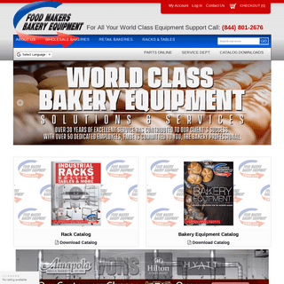 Bakery Equipment - New, Re-Manufactured, Used & Great Value