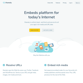 Iframely - Embeds codes for today's Internet