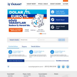 İş Varant - Ana Sayfa