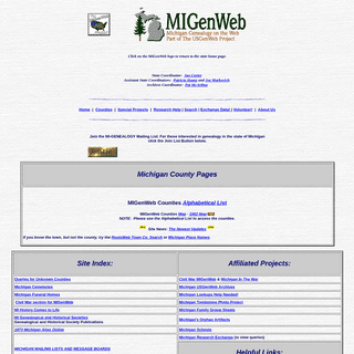 MIGenWeb - Free Genealogy created by Volunteers