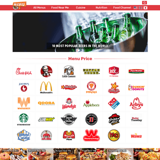 Menu With Price - Up-To-Date Fast Food Menus and Prices for 2019