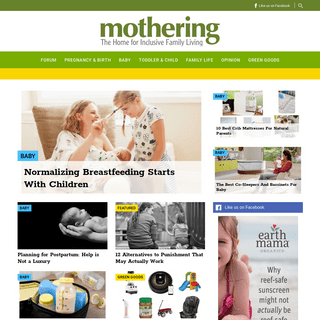 Mothering - The Home for Natural Family Living