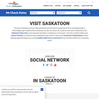 ArchiveBay.com - tourismsaskatoon.com - Welcome to Saskatoon - Hotels, Restaurants, & Things To Do
